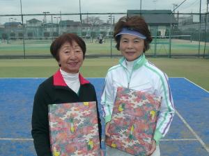 130歳以上の部準優勝の飯塚さんと興野さん